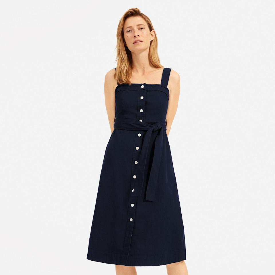 "<p><strong>everlane</strong></p><p>everlane.com</p><p><a href=""https://go.redirectingat.com?id=74968X1596630&url=https%3A%2F%2Fwww.everlane.com%2Fproducts%2Fwomens-seersucker-picnic-dress-darknavy2&sref=https%3A%2F%2Fwww.cosmopolitan.com%2Fstyle-beauty%2Fg33369399%2Feverlanes-summer-sale%2F"" rel=""nofollow noopener"" target=""_blank"" data-ylk=""slk:Shop Now"" class=""link rapid-noclick-resp"">Shop Now</a></p><p><del>$88</del><strong><br>$62</strong></p><p>It's not too late to stock up on cute sundresses. This sweet style is perfect for socially-distanced walks and, you know, lounging around the house.</p>"