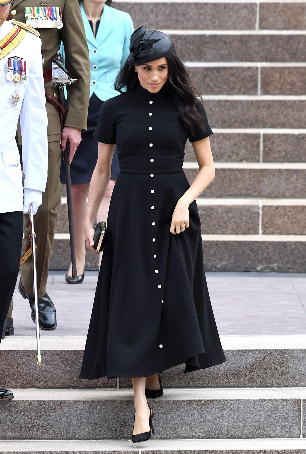 Meghan, Duchess of Sussex, attends the official opening of the extension of the ANZAC Memorial in Hyde Park on Oct. 20 in Sydney.