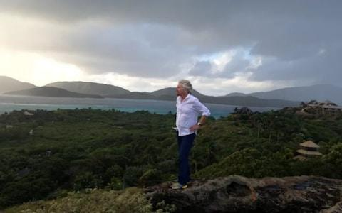 <span>The billionaire on Irma during a storm in 2014</span>