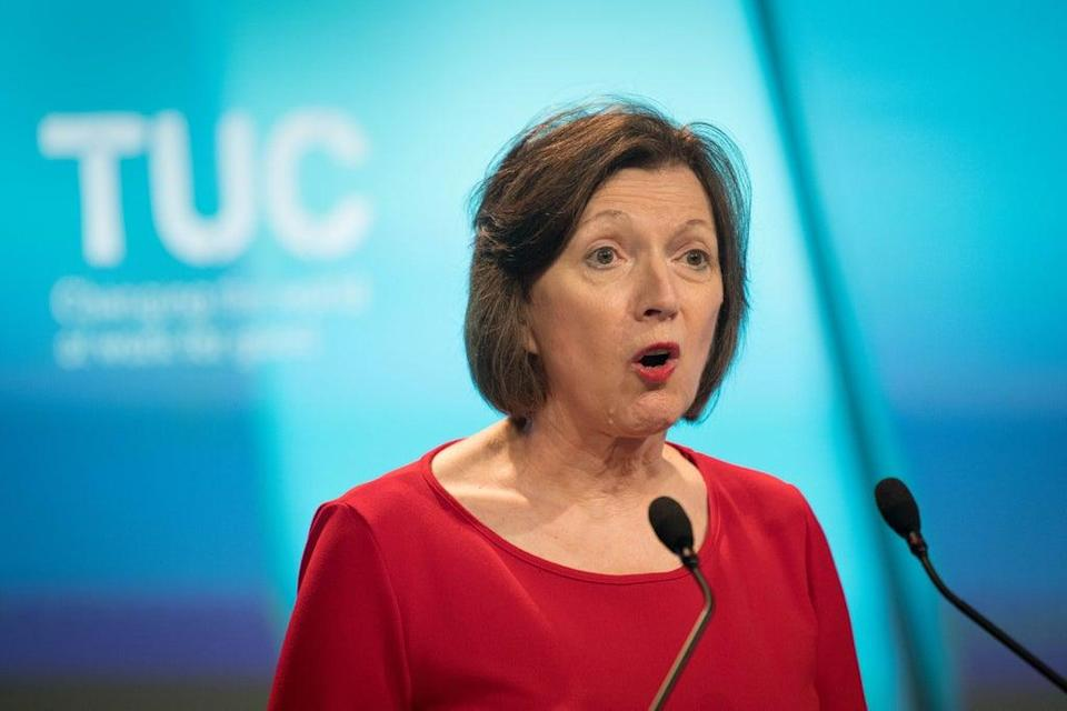 Frances O'Grady says the pandemic has exposed the gulf between low income workers and the better off (Stefan Rousseau/PA) (PA Wire)