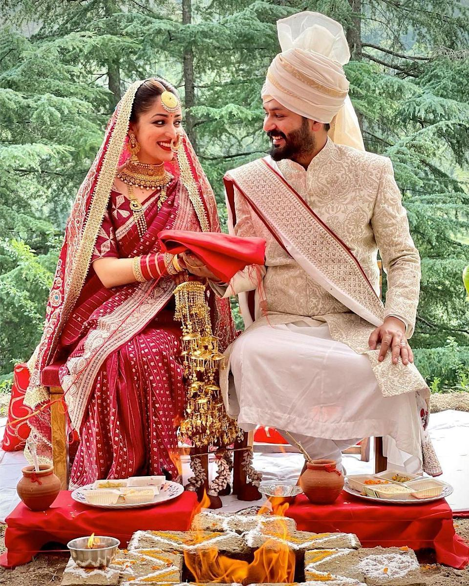 """<div class=""""paragraphs""""><p>Yami Gautam and Aditya Dhar tied the knot on 4 June. </p></div>"""