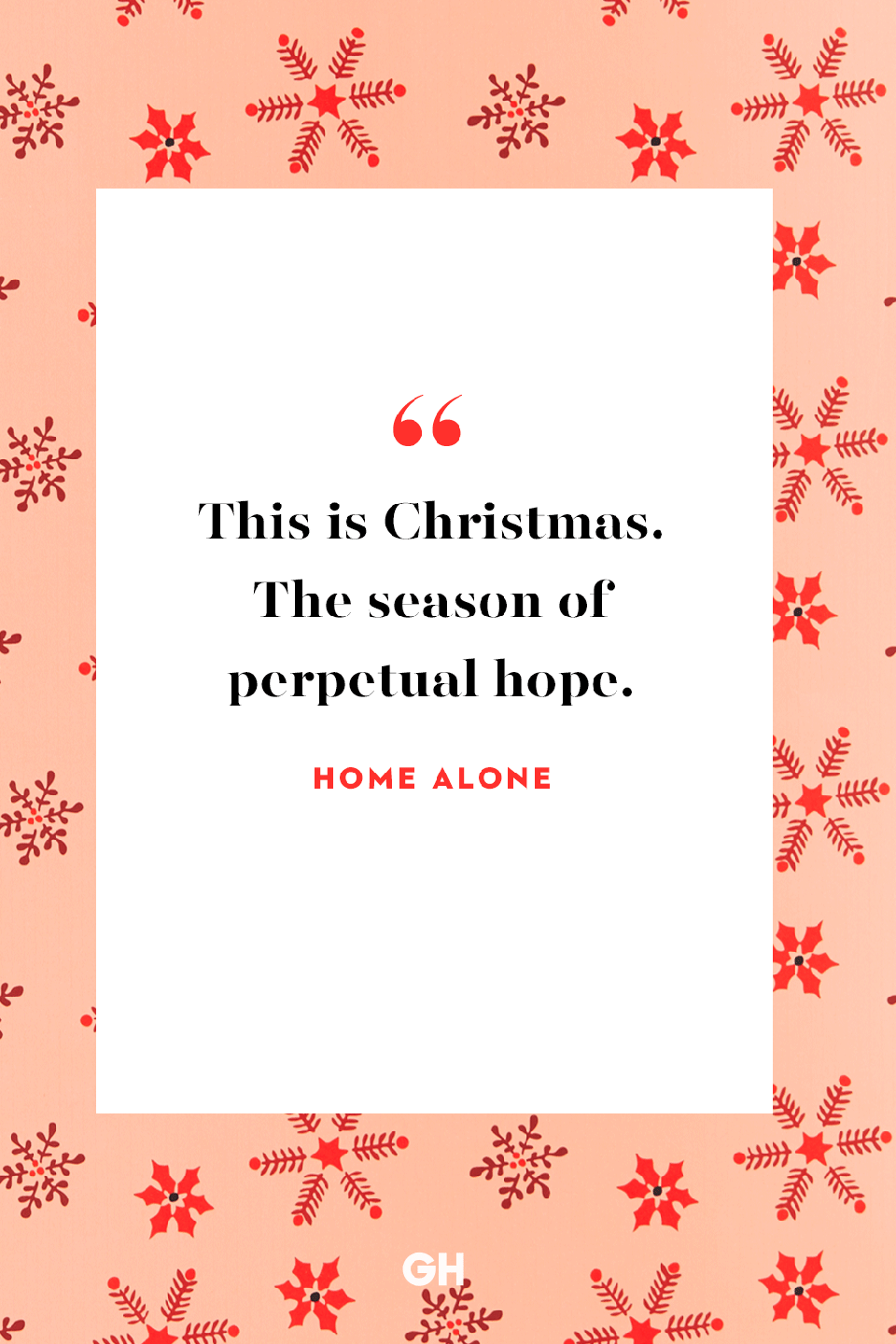 <p>This is Christmas. The season of perpetual hope. </p>