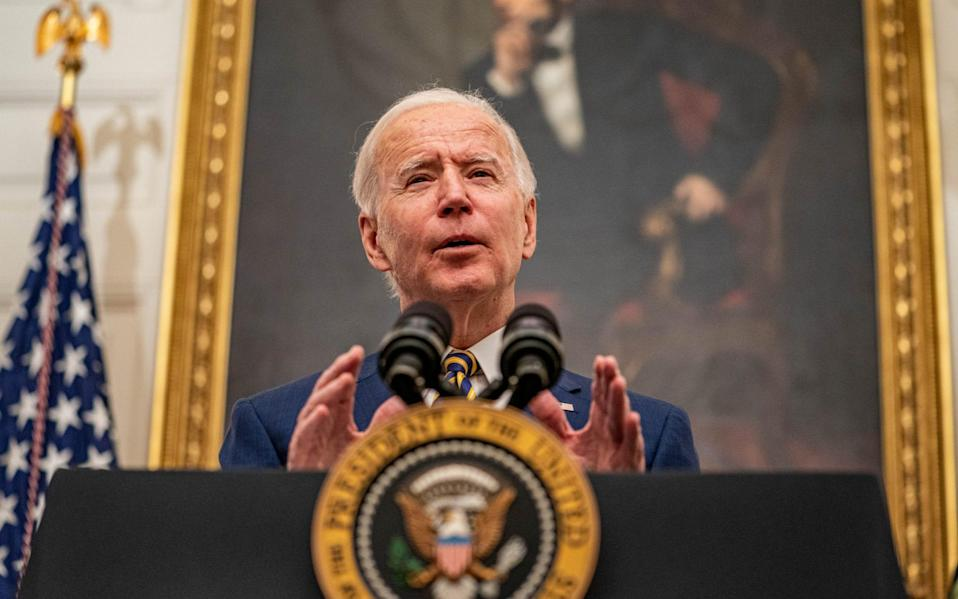 Joe Biden speaks on his administration on his first days in office