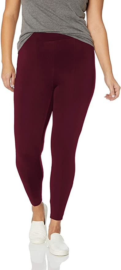"""<br><br><strong>Daily Ritual</strong> Plus Size Ponte Knit Legging, $, available at <a href=""""https://amzn.to/379nnl1"""" rel=""""nofollow noopener"""" target=""""_blank"""" data-ylk=""""slk:Amazon"""" class=""""link rapid-noclick-resp"""">Amazon</a>"""