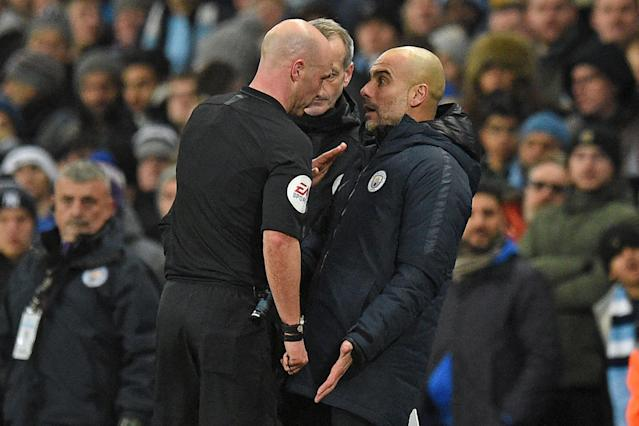 Pep Guardiola (right) and Manchester City could be at a significant disadvantage in the transfer market thanks to Brexit. (Getty)