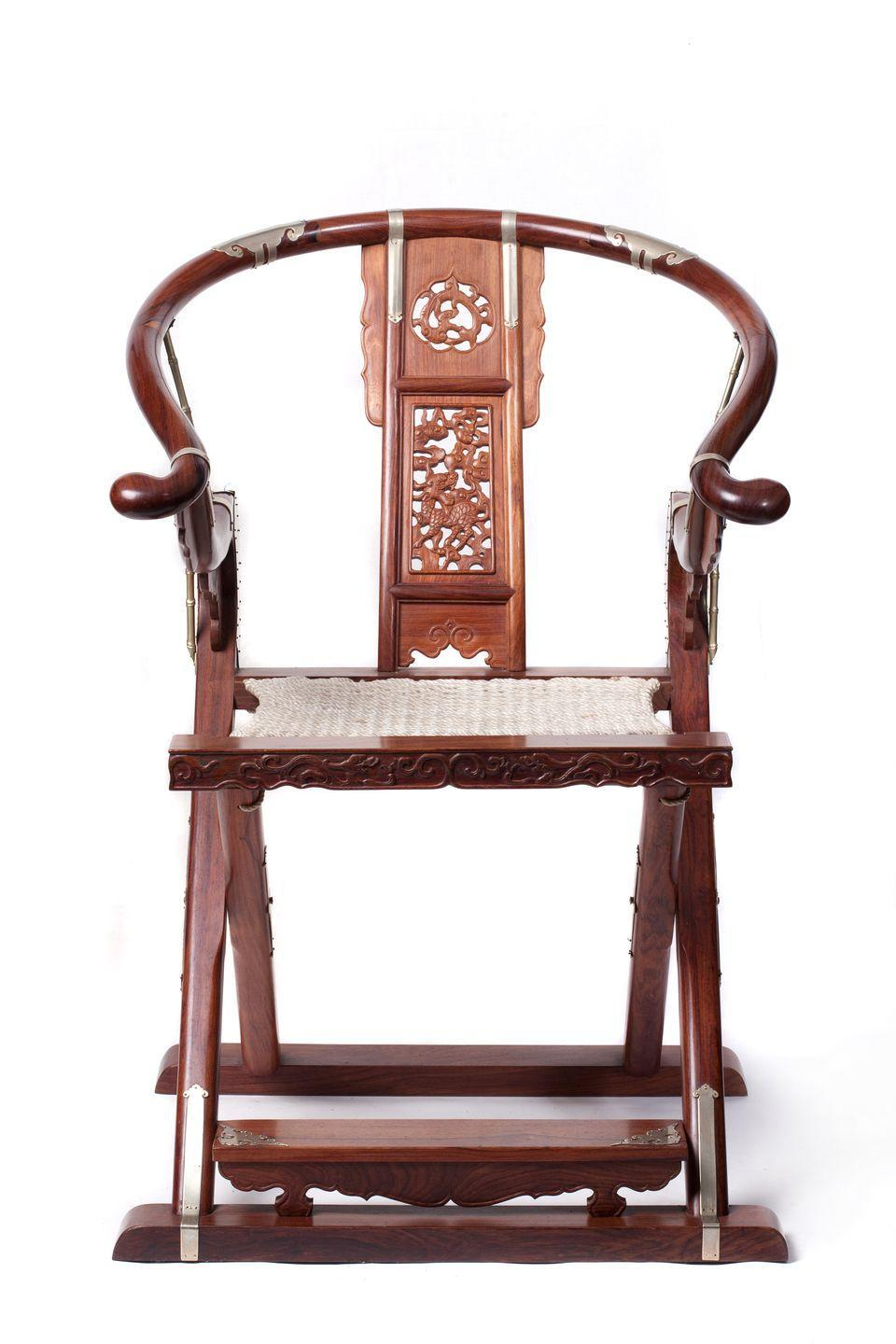 <p>Given that the Ming dynasty ruled China from 1368 to 1644, there's a wide range of furniture styles from the period. Towards the later years, though, the nation saw the production of intricate, carved wood furniture, much of it produced—thanks to discoveries in joinery—without the use of nails. The curved backs and folding seats of the Ming era would become especially influential on later furniture designs. </p>
