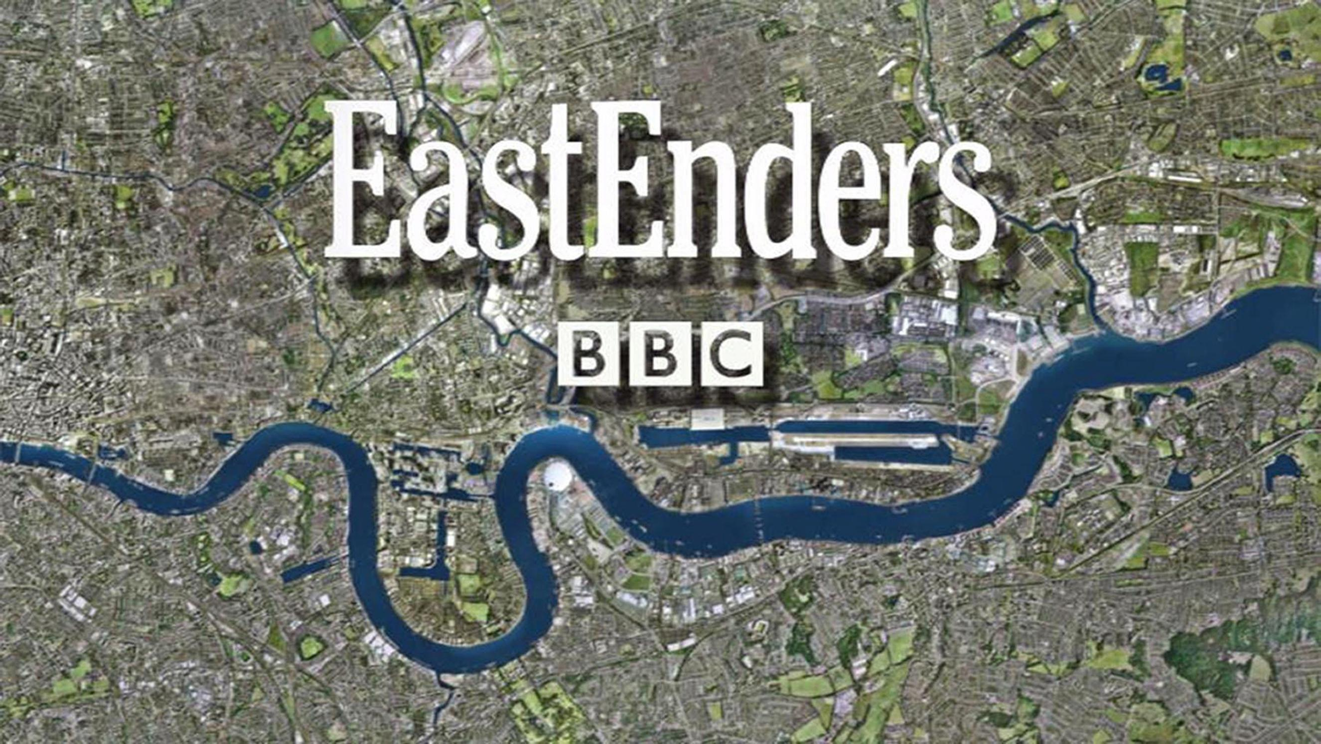 "Undated file handout photo issued by BBC of the EastEnders logo. They will be celebrating in the Queen Vic after EastEnders bosses said they enjoyed a ""record year"" on BBC iPlayer."