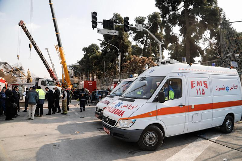Iranian celebrities and private tutors are illegally using ambulances to avoid traffic jams in the capital: AFP/Getty Images
