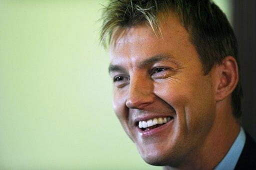 Australian pace bowler Brett Lee announces his retirement from international cricket after a 13-year career, at a media conference in Sydney, on July 13. The 35-year-old said a calf muscle strain that forced him home from Australia's recent one-day tour to Britain was the final straw after a string of setbacks caused by injuries