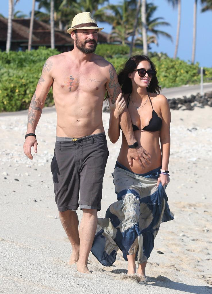 Pregnant Megan Fox and Brian Austin Green Pack on the PDA ...