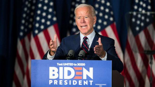 PHOTO: Democratic presidential candidate, former Vice President Joe Biden speaks during a campaign event, Oct. 9, 2019, in Rochester, New Hampshire. (Scott Eisen/Getty Images)