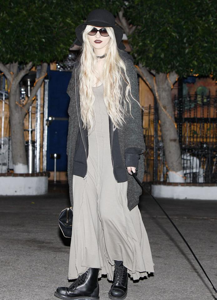 "Apparently Blake's ""Gossip Girl"" co-star, Taylor Momsen, missed the memo. Halloween is OVER! KMM-Rod/<a href=""http://www.x17online.com"" target=""new"">X17 Online</a> - November 2, 2010"