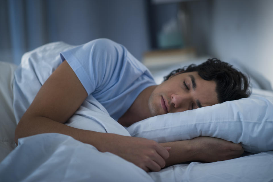 When you sleep, your heart rate and blood pressure naturally drop. This helps reduce the stress on your heart. (Photo: Getty)