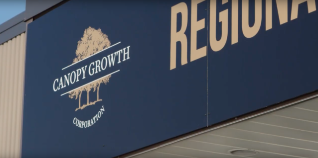 Canopy Growth Corp.'s distribution centre in Smiths Falls, Ont. (YouTube)