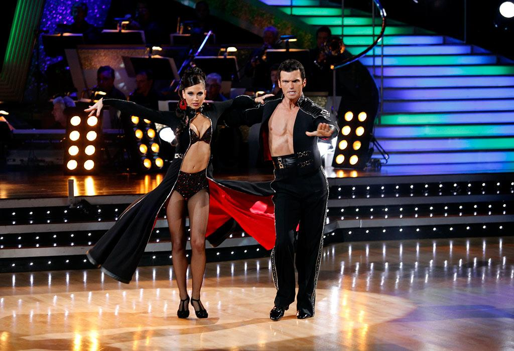 "Melissa Rycroft and Tony Dovolani perform the Paso Doble to ""So What"" by Pink on ""Dancing with the Stars."""