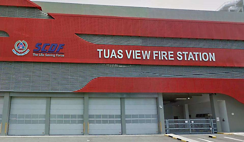 The Tuas View Fire Station where Corporal Kok Yuen Chin died during a celebration for his impending ORD. (PHOTO: Google Street View screengrab)