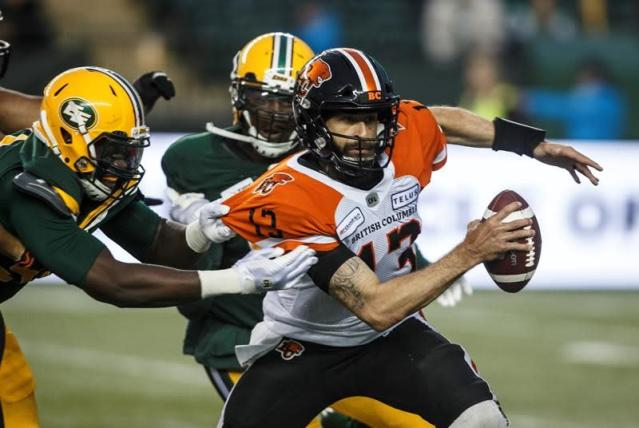 """EDMONTON — Greg Ellingson came alive before it was too late on Friday.Trevor Harris threw three touchdown passes, including two to Ellingson, as the Eskimos overcame a bad start to spoil former quarterback Mike Reilly's return to Edmonton with a 39-23 victory over the B.C. Lions.Ellingson finished with nine catches and 174 yards, including a touchdown late in the second quarter to help the Eskimos erase a 14-point deficit.""""We started the first quarter pretty slow and kind of just needed a jump so it was nice to be part of kick-starting the offence a little bit in that second quarter,"""" Ellingson said. """"We were down, but the saying is, 'Don't flinch.'""""That's something we didn't do and we put together drives and made sure we finished the game and the defence balled out.""""The Eskimos are off to a 2-0 start, while the Lions fell to 0-2.""""We're excited about this 2019 version of the Eskimos and the way these guys are playing and believing in one another, working hard for each other, it's something special right now,"""" Eskimos head coach Jason Maas said.""""I couldn't be more thrilled and more happy for that group of guys in that locker-room, playing for one another and believing in each other.""""Edmonton had 409 yards in net offence, while the Lions had just 202 despite having an early 17-3 advantage in the contest.""""We came out and played good football in the first quarter and we gave them a good punch,"""" Reilly said.""""But they countered back and we just never got off the mat after that. We've got to figure out how to fight through when things get a little tough and aren't going our way. That's been the problem the last couple weeks.""""The Lions struck first, eight minutes into the opening quarter, when Reilly found Lemar Durant for a seven-yard TD pass, followed with the two-point conversion. B.C. added a 30-yard field goal by Sergio Castillo for an 11-0 lead soon after.Edmonton responded with a 44-yard field goal by Sean Whyte late in the first quarter.The Eskimos continued to shoo"""