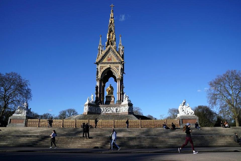 The Albert Memorial in Hyde Park, London. The Prince Albert Digitisation Project is now complete and contains more than 5,000 items (PA Archive)