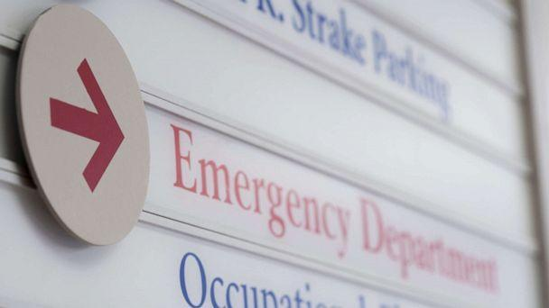 PHOTO: Stock photo of a an emergency department sign. (STOCK PHOTO/Getty Images)