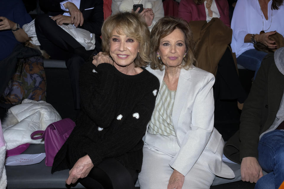 Maria Teresa Campos and Mila Ximenez during in fashion show during Mercedes Benz Fashion Week Madrid Autumn/Winter 2020-21 on January 29, 2020 in Madrid, Spain  (Photo by Oscar Gonzalez/NurPhoto via Getty Images)