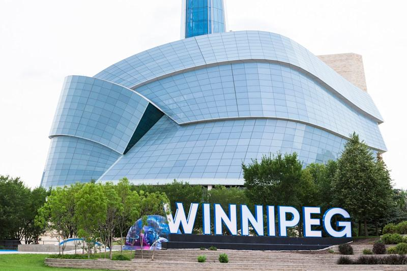 One of the shootings occurred near the Winnipeg sign at The Forks: Getty Images