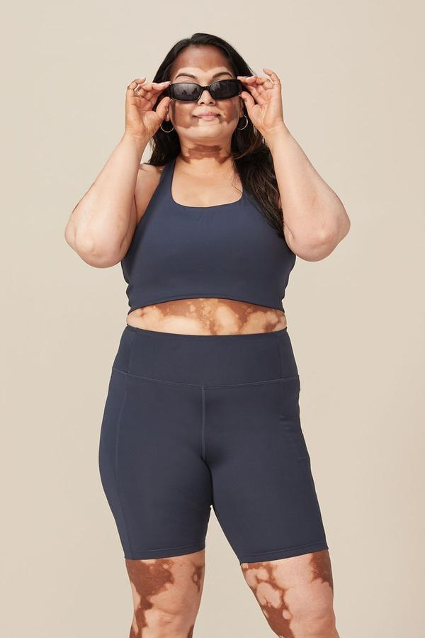 <p>These <span>Girlfriend Collective High-Rise Bike Shorts</span> ($48) look awesome with the matching sports bra, a chain necklace, and a great pair of sunglasses.</p>