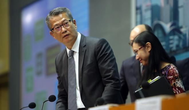 Paul Chan says the pressure on the economy is obvious. Photo: Winson Wong