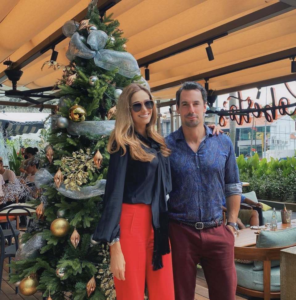 Former Malaysian beauty queen Kavita Sidhu was out and about with her husband Italian geologist Roberto Guiati. (PHOTO: Kavita Sidhu Instagram)