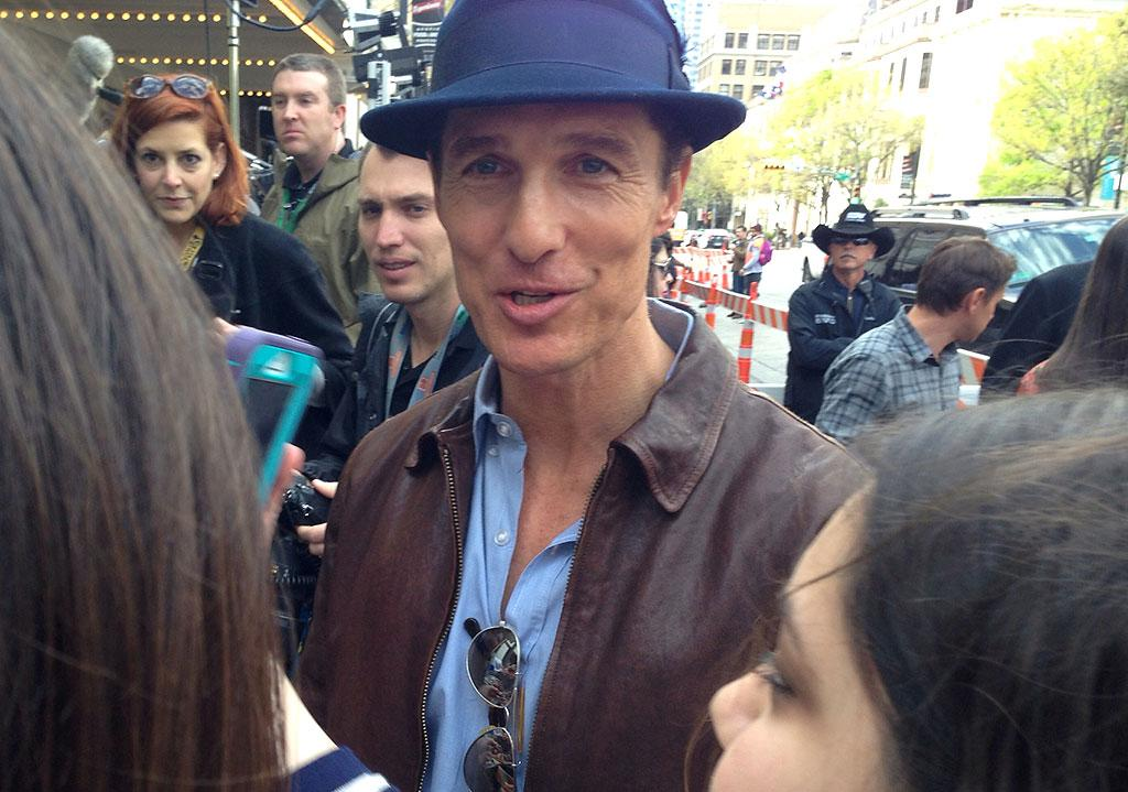 Matthew McConaughey said its good to be home. #sxsw #mud