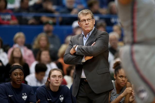 Geno Auriemma won his 1,000th career game Tuesday as UConn defeated Oklahoma. (Getty)