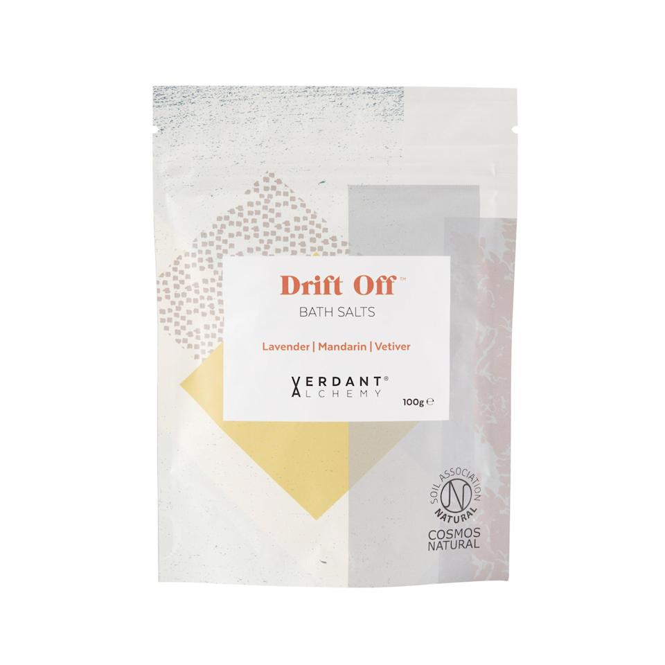 """<p>With Epsom salt, dead sea salt and soothing lavendar featuring heavily in the ingredients list, the aptly-named 'drift off' pouch is one for those who like to soak in the tub before hitting the sheets. <a href=""""https://verdantalchemy.co.uk/collections/bath-salts/products/drift-off-relaxing-sleep-bath-salts"""" rel=""""nofollow noopener"""" target=""""_blank"""" data-ylk=""""slk:Buy here"""" class=""""link rapid-noclick-resp""""><em>Buy here</em></a>. </p>"""