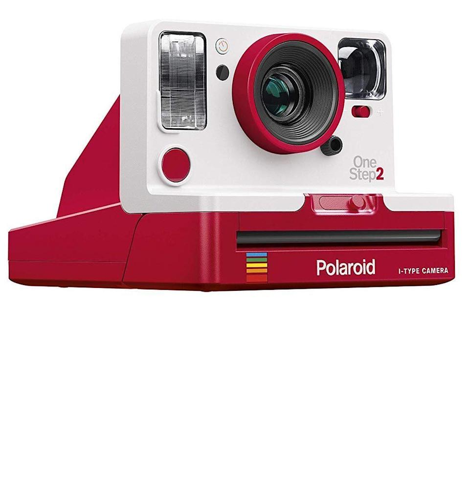 """<p><strong>Polaroid Originals</strong></p><p>amazon.com</p><p><strong>$96.39</strong></p><p><a href=""""https://www.amazon.com/dp/B07WJQYVYN?tag=syn-yahoo-20&ascsubtag=%5Bartid%7C10054.g.30645451%5Bsrc%7Cyahoo-us"""" rel=""""nofollow noopener"""" target=""""_blank"""" data-ylk=""""slk:Buy"""" class=""""link rapid-noclick-resp"""">Buy</a></p><p>You're probably in that sweet spot where you're convinced that every single photo you take together is the best damn photo <em>ever </em>taken. Up your game with a Polaroid camera, for cool vintage vibes.</p>"""