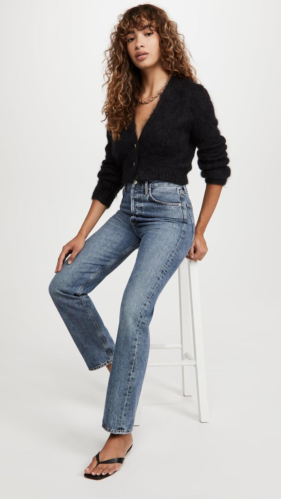 <p>If you love a fuzzy sweater, this <span>The Marc Jacobs Hairy Cropped Mohair Cardigan</span> ($375) is for you. It looks great with high-waisted jeans or a black skirt.</p>