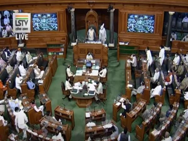 Visuals of Lok Sabha during the monsoon session of Parliament.