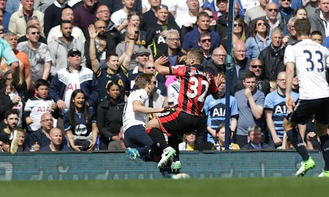 "<span class=""element-image__caption"">Bournemouth's Jack Wilshere is injured in a tackle with Harry Kane of Tottenham.</span> <span class=""element-image__credit"">Photograph: Robin Jones/South/Si/Rex/Shutterstock</span>"