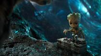<p>As seen in the trailer, despite Rocket's warnings about accidentally setting off the nuclear bomb early, Groot can't help himself. (Photo: Marvel) </p>