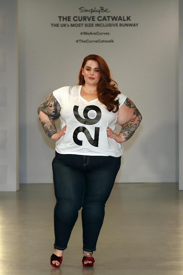 <p>Size 26 model Tess Holliday. </p>