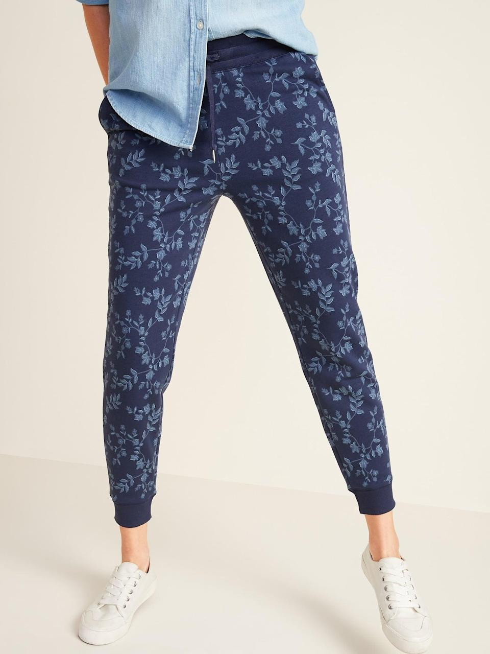 <p>Style these fun <span>Old Navy Mid-Rise Tapered-Leg Jogger Pants</span> ($32, originally $35) with sneakers.</p>