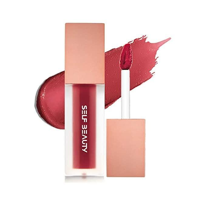 <p>Add a flush of color to your lips for a no-makeup makeup look with the <span>Self Beauty Sheer Matte Velvet Lipgloss, Liptint in No.203 Valentine Rosy</span> ($7, originally $14).</p>