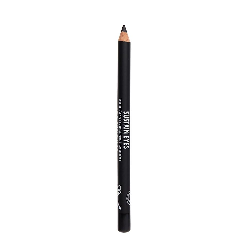 <p>I used the <span>Cheekbone Beauty Sustain Eyes Eyeliner in Raven Black</span> ($17) to line my waterline and lash line with a subtle winged-out look. It's super bold and pigmented for a true black look. I really loved it.</p>