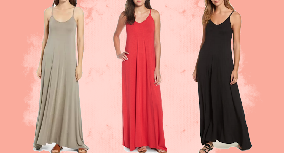 Add the Loveappella Maxi Dress to your list of summer must-haves.