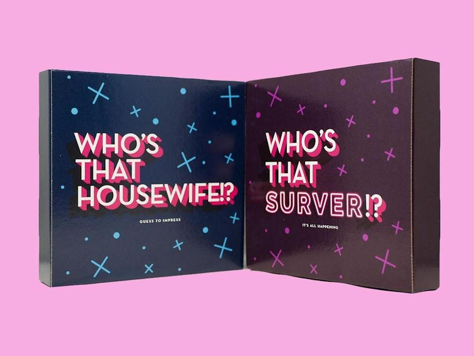 <p>Make binge-watching with friends a bit more entertaining (if that's even possible) with the <span>Who's That Housewives and Pump Rules Bundle</span> ($79).</p>