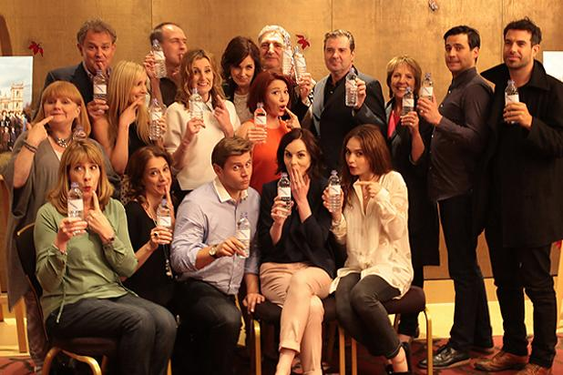 'Downton Abbey' Cast Uses Reaction to Water Bottle-Gate to Promote Charity (Photo)