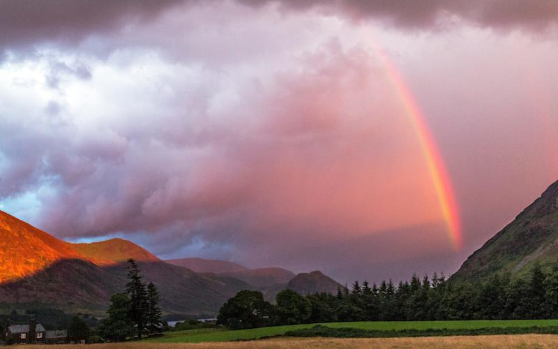 Watergaw (Rainbow, Scots). - Credit: Rosamund and John Macfarlane