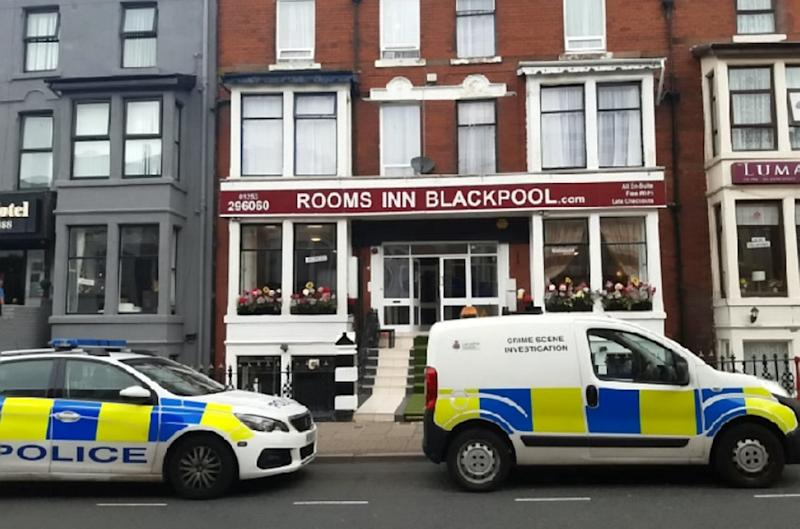Plunge: A two-year-old girl has been rushed to hospital after falling from a hotel window. (SWNS)