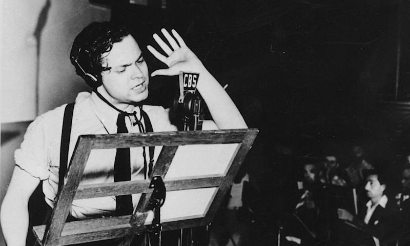 Scary: Orson Welles broadcasts his version of War of the Worlds in 1938.