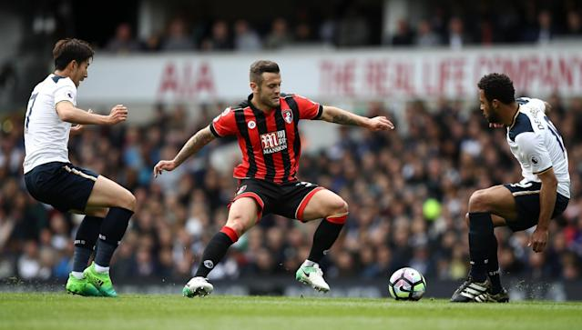 <p>Bournemouth's Arsenal loanee Jack Wilshere got a warm reception from home fans </p>