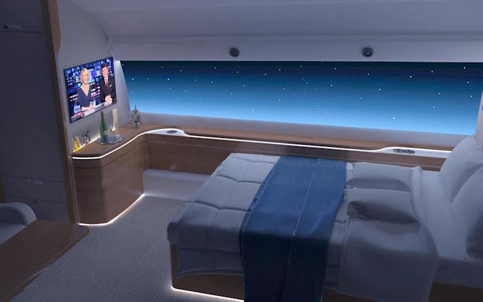 The Spike S-512 reconfigured with a double bed