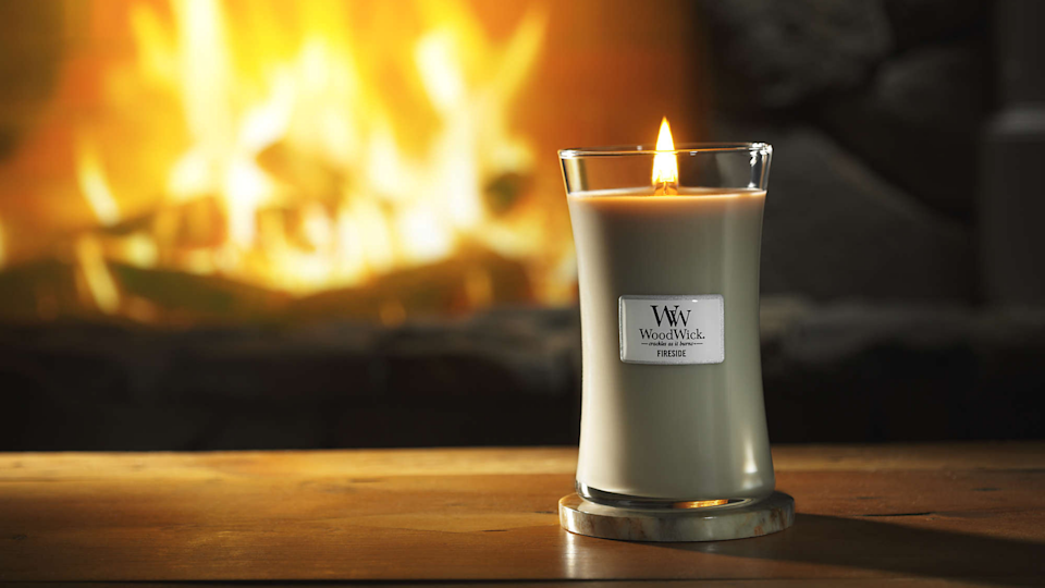 A wood wick candle is essential for those chilly fall days.