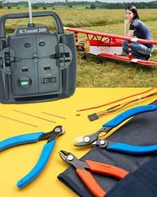 Xuron Radio Control Model Aviation Tool Kit Features 3 Popular Hand Tools & Storage Pouch